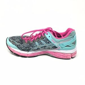 Details about Women's Asics Gel Kayano 22 Lite Show Shoes Sneakers Size 9.5 Blue Pink Gray O14